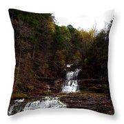 Scenic Kent Falls Throw Pillow by Stephen Melcher