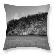 Scenic Morning On The Fox River Throw Pillow