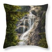 Scenic Of Shannon Fallsbritish Columbia Throw Pillow