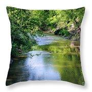 Scenic Sandusky River Throw Pillow