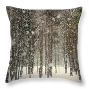 Scenic Snowfall Throw Pillow