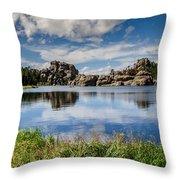 Scenic Sylvan Lake At Custer State Park Throw Pillow