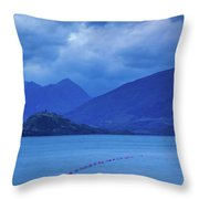 Scenic View Of A Lake At Dusk, Lake Throw Pillow