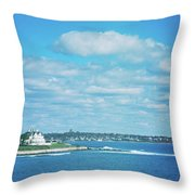 Scenic View Of Atlantic Ocean Throw Pillow