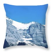 Scenic View Of Eiger And Monch Mountain Throw Pillow