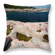 Scenic View Of Exposed Bedrock Throw Pillow