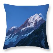 Scenic View Of Mountain At Dusk Throw Pillow