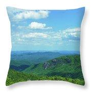 Scenic View Of Mountain Range, Blue Throw Pillow