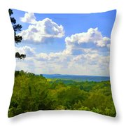 Scenic View Of So Mo Ozarks - Digital Paint Throw Pillow