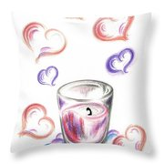 Scented Candle With Love Throw Pillow