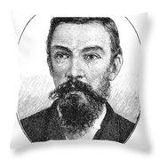 Schalk Willem Burger (1852-1918) Throw Pillow