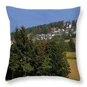 Schauenstein - A Typical Upper-franconian Town Throw Pillow