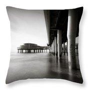 Scheveningen Pier 2 Throw Pillow
