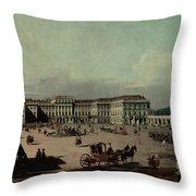 Schloss Schonbrunn, 1759-60 Oil On Canvas Throw Pillow