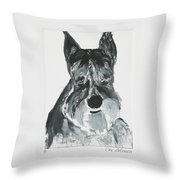Schnauzing Around Throw Pillow