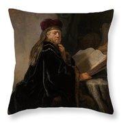 Scholar At His Study Throw Pillow