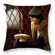 Scholar By Moonlight Throw Pillow