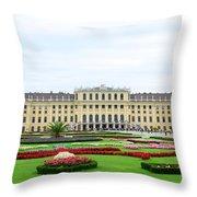 Schonbrunn Palace In Vienna Austria Throw Pillow