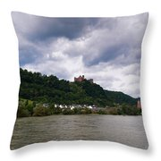 Schonburg Oberwesel Am Rhein Throw Pillow