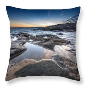 Schoodic Reflections Throw Pillow