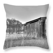 School Outhouse Throw Pillow