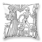 Schoolmaster And Soldier Throw Pillow