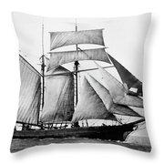 Schooner, 1888 Throw Pillow