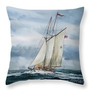 Schooner Adventuress Throw Pillow