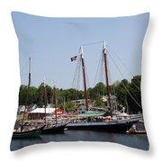 Schooner - Camden Harbor - Maine Throw Pillow