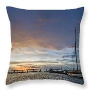 Schooner Germania Nova Sunset Throw Pillow by Dustin K Ryan