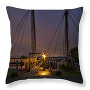 Schooner Heritage Night Shot Throw Pillow