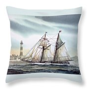 Schooner Light Throw Pillow