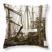 Schooner Luisa D Sails For Nome Alaska  About April 18 1902 Throw Pillow