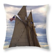 Schooner Virginia Throw Pillow