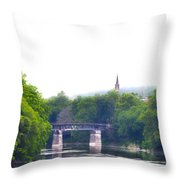 Schuylkill River At Manayunk Philadelphia Throw Pillow