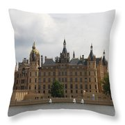 Schwerin Castle Front Aspect Throw Pillow