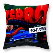 Sci Fi Theater Throw Pillow by Benjamin Yeager