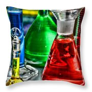 Science - Lab Glass Throw Pillow