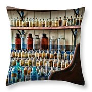 Science - My Chemistry Set Throw Pillow by Paul Ward