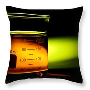 Scientific Beaker In Science Research Lab Throw Pillow