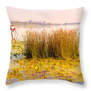 Scirpus In The River Throw Pillow