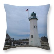 Scituate Light Two Throw Pillow