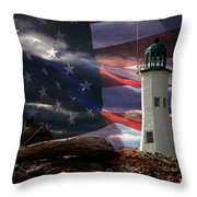 Scituate Strong Protecting American Shoreline Throw Pillow