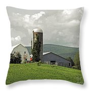 Scoharie New York Farm Throw Pillow