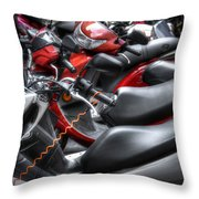 Scooter Brigade Throw Pillow