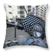 Scooter In The Spotlight Throw Pillow