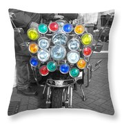 Scooter Spotlights Throw Pillow