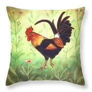 Scooter The Rooster Throw Pillow