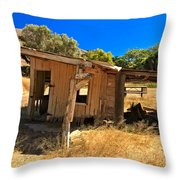 Scorpion Ranch Remnants Throw Pillow