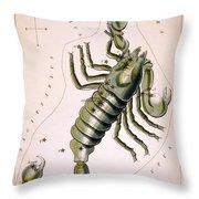 Scorpio Constellation  1825 Throw Pillow